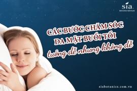 Quy trình các bước chăm sóc da mặt buổi tối bạn nên biết để có một làn da khỏe mạnh