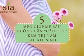 """5 MẸO GIÚP MẸ BẦU KHÔNG CẦN """"CẦU CỨU"""" KEM TRỊ NÁM SAU KHI SINH"""