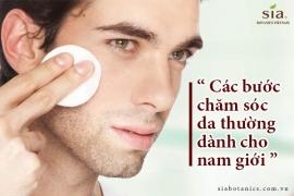 Các bước chăm sóc da thường ngày dành cho nam để có làn da khỏe mạnh