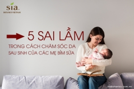 5 SAI LẦM PHỔ BIẾN TRONG CÁCH CHĂM SÓC DA SAU SINH CỦA CÁC MẸ BỈM SỮA